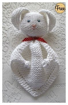 Bunny Blanket Buddy kostenlose Strickanleitung #freeknittingpatterns