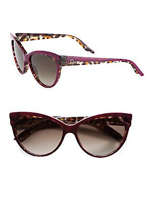 afb65eb899f Dior Plastic Panther Cat s-Eye Sunglasses. A classic cat s-eye design gets  an on-trend update with a wild panther print.