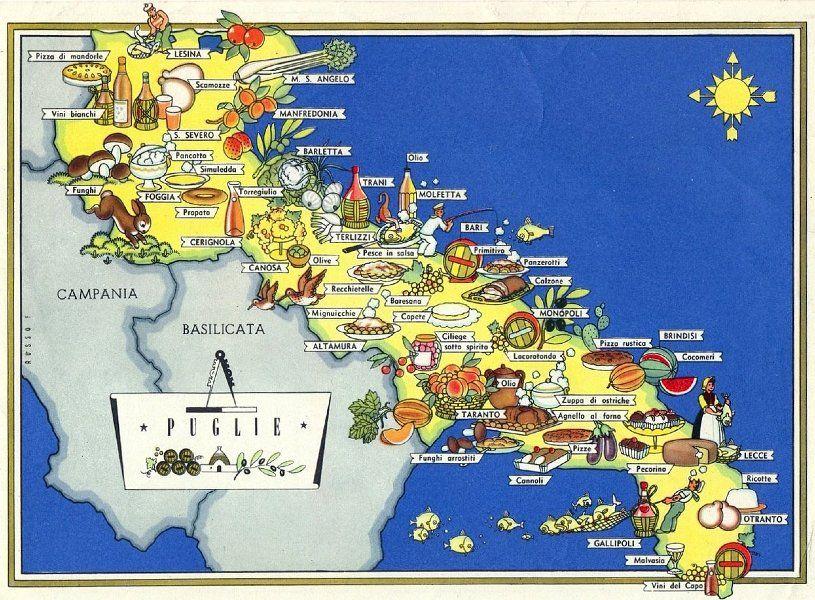 Cartina Puglia Vettoriale.Puglia Prodotti Tipici Puglia Italia Puglia In Viaggio