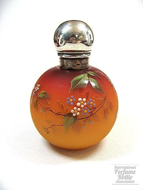 Webb peachblow satin glass perfume bottle circa 1880's