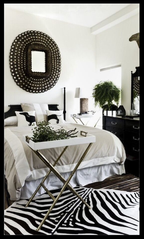 Bedrooms Black and white Black and
