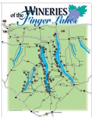 finger lake wineries map Winery Map Of The Finger Lakes Finger Lakes Wineries Finger Lakes Ny New York Wineries finger lake wineries map