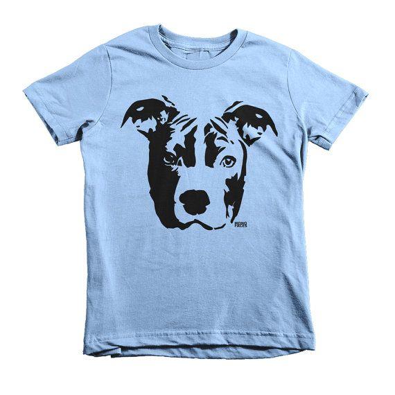 Pit Bull Kids Shirt Pitbull T-shirt by MONOFACESoCHILDREN on Etsy