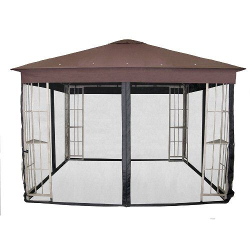Garden Treasures Black Polyester Insect Mosquito Net For 10 X 10 Square Metal Gazebo N 577 1n 2015 Amazon Top Rated Garden Steel Gazebo Gazebo Black Gazebo