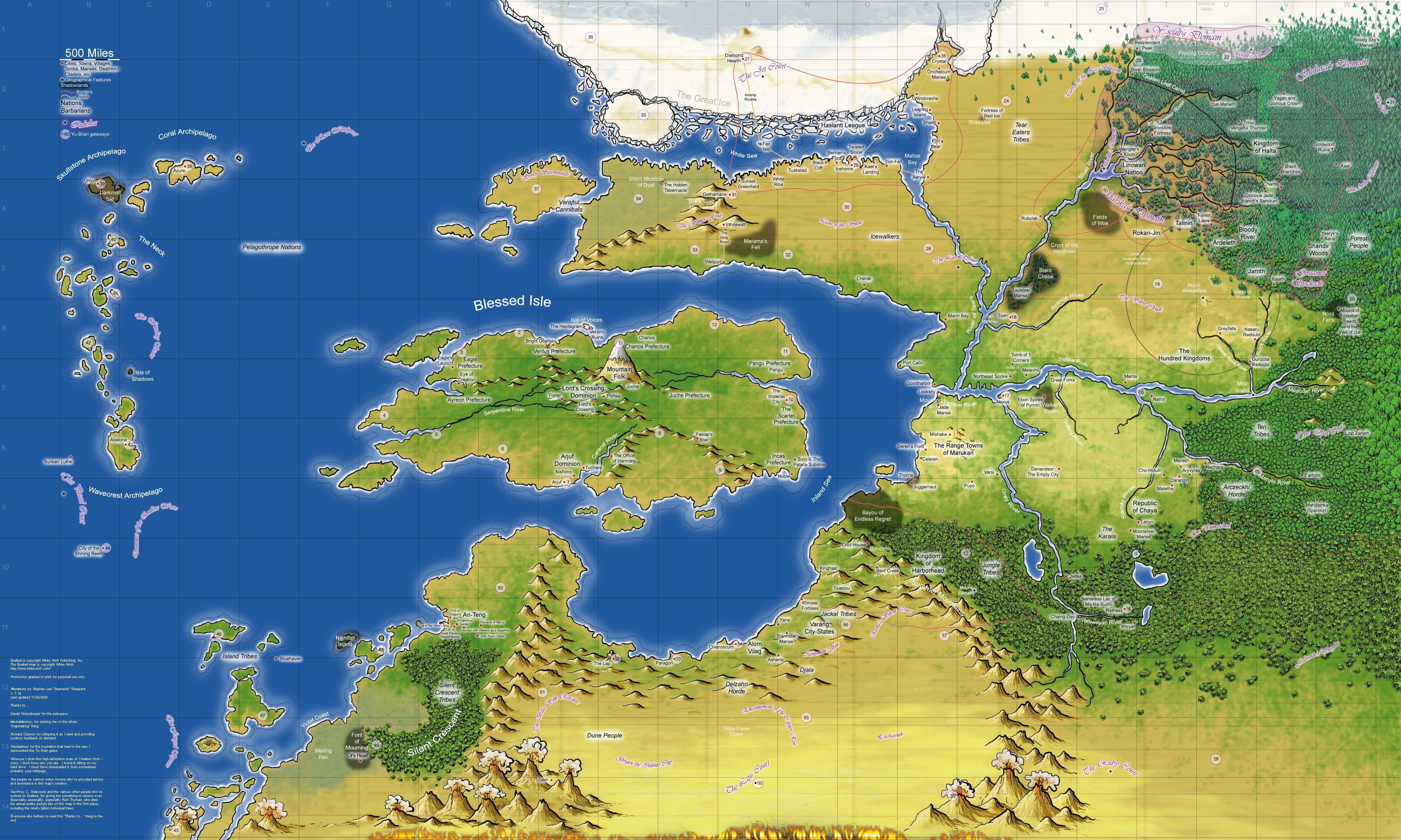 Creation Map from Exalted RPG Creation Map