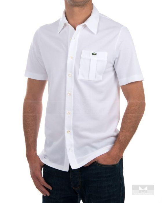 1de0a23b4e9ef Camisa Lacoste manga corta Blanca - Vendome   Lacoste   Pinterest ...