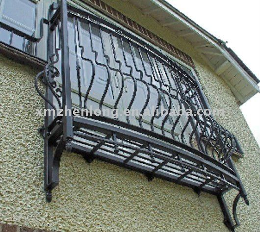 Decorative wrought iron window grill design buy iron for Window grills design in the philippines