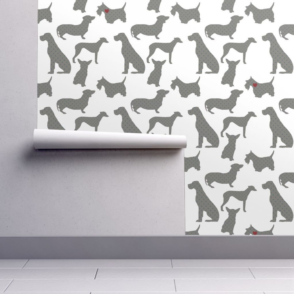Dogs Pattern Wallpaper Spotted Dog By Blackwooddesign Dogs