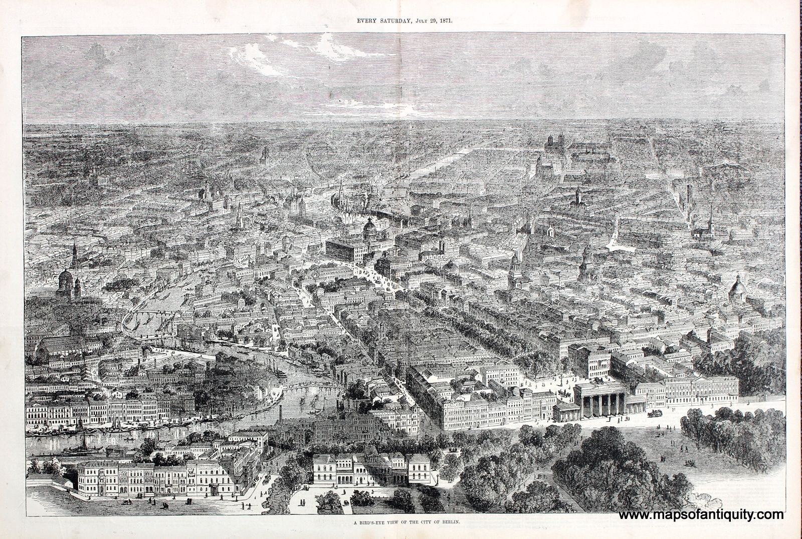 Map Of Germany With Cities%0A Antique Bird u    s Eye View Map of the City of Berlin  Germany  Available at  Maps