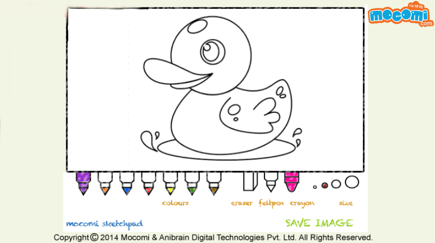 Squishy the duck Colouring pages for Kids Coloring