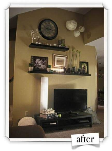 Small Wall Shelves Living Room Behind Couch