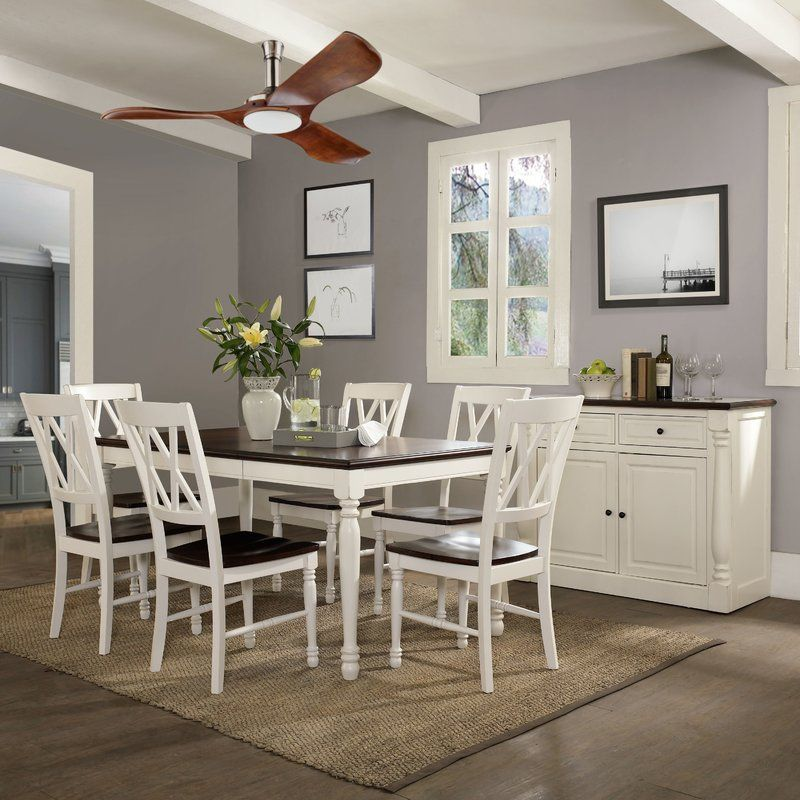 Understated elegance abounds with this seven piece dining