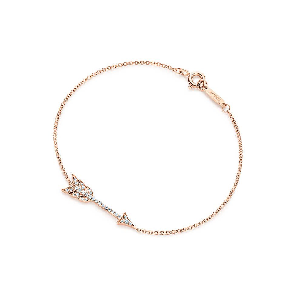 Paloma Picasso loving heart wire bracelet in 18ct rose gold with diamonds - Size Medium Tiffany & Co. pywYl1N3