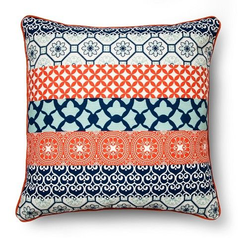 Red/Blue Oversized Global Striped Throw Pillow - Threshold™