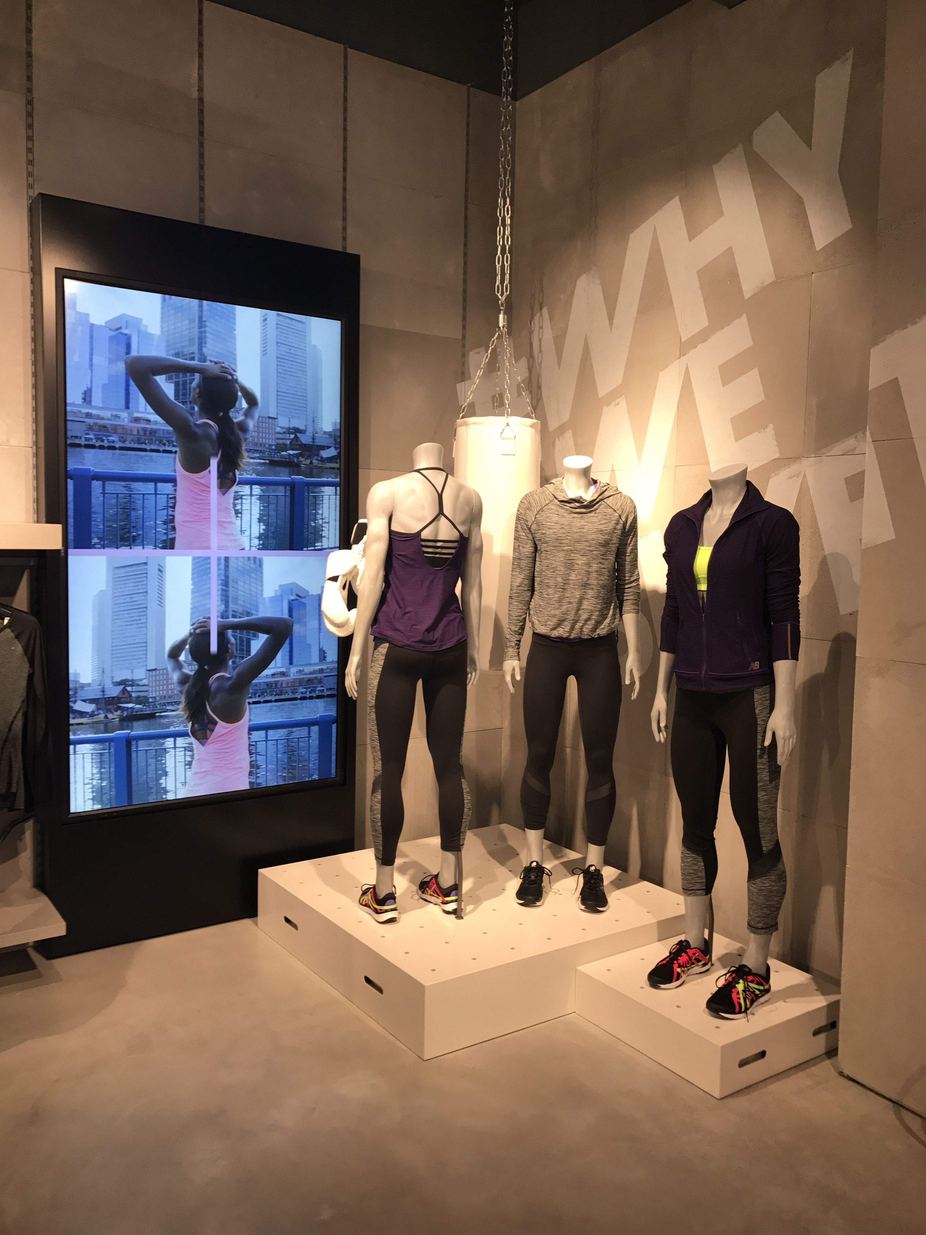 1231e6a47c New Balance - Central London, April 2017 Lead in #sportbrands #retail #vm  #visualmerchandising #newbalance