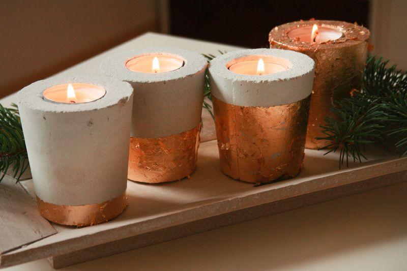 kerzenhalter einfach basteln, beton kerzenhalter diy | dekoration/party | pinterest | kerzenhalter, Design ideen