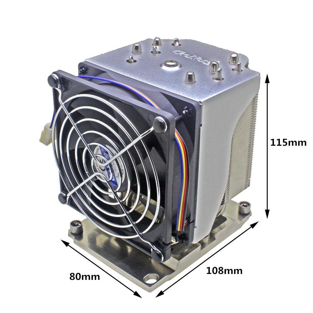 3u 4u Cpu Cooler Lga3647 Narrow Heatsink Cooling Fan For Intel