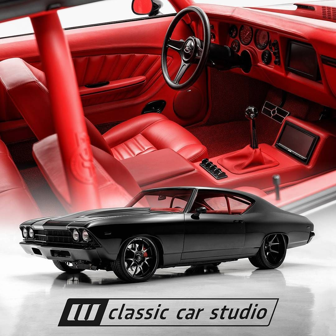 69 chevelle becausess red and black interior custom fesler painted bumpers concave wheels roll. Black Bedroom Furniture Sets. Home Design Ideas