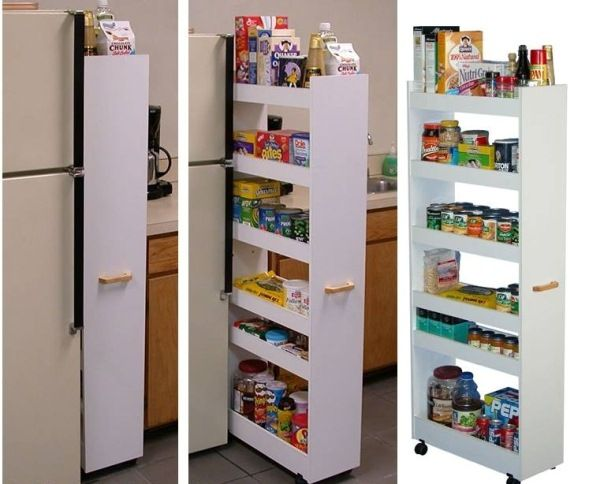Pull-Out Pantry Cabinet #storagesolutions