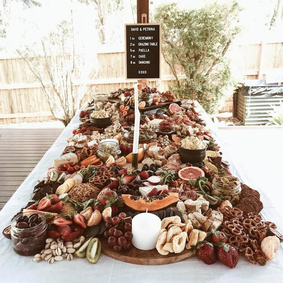 grazing tables for weddings big or small rustic buffet platters in rh pinterest com
