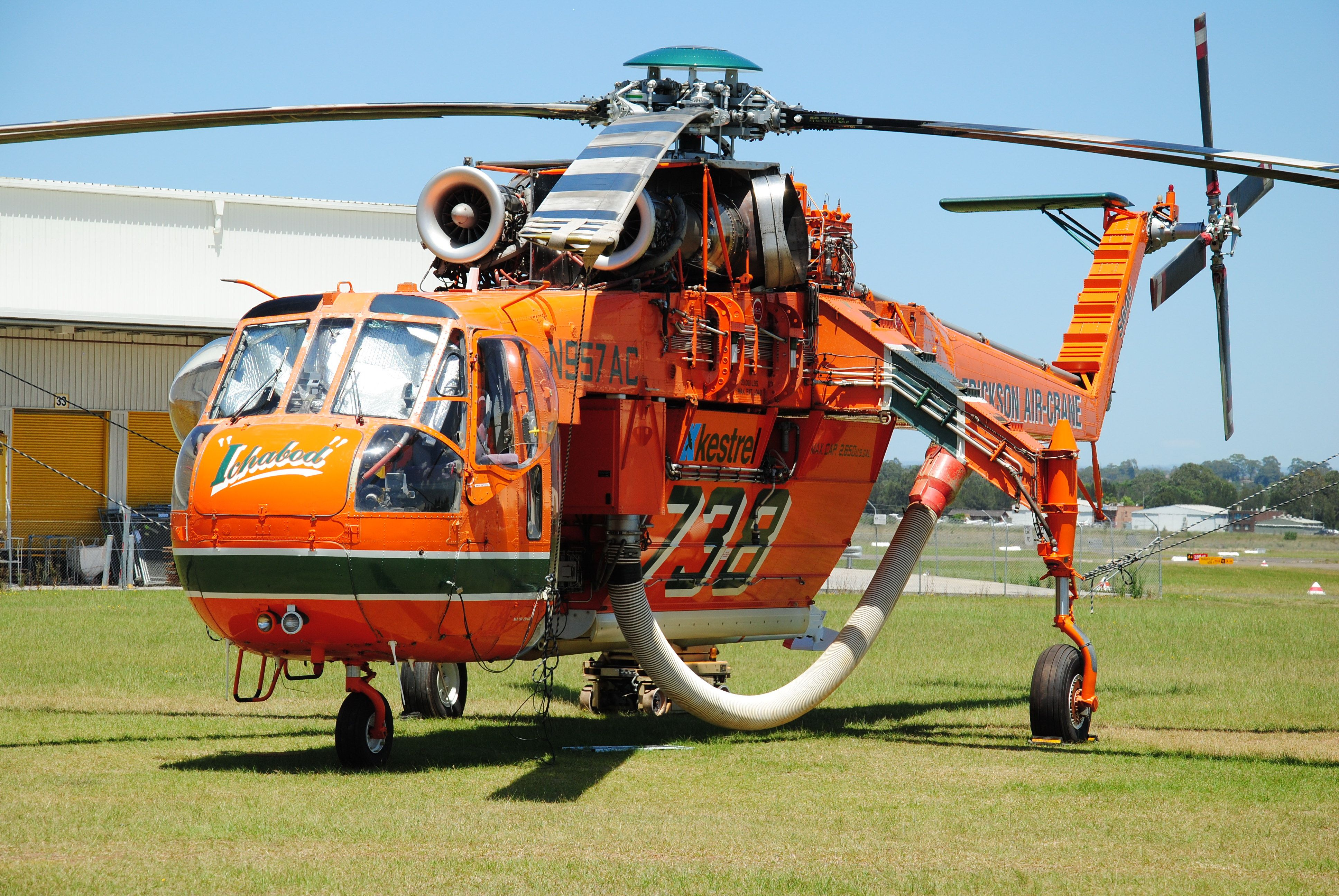 Erickson S64 Aircrane N957AC Ichabod at Bankstown Airport