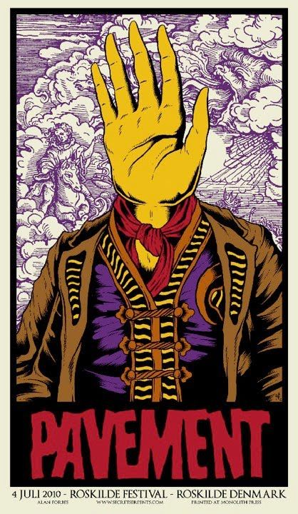Pavement poster by Alan Forbes | Music stufffing | Pinterest