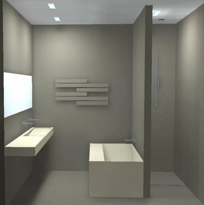 Badkamer idee om bad tegen inloopdouche te plaatsen of misschien ipv bad dubbele wastafel - Badkamer fotos met douche ...