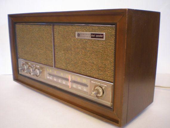 vintage wood tube radio ge general electric am fm works vintage rh pinterest com