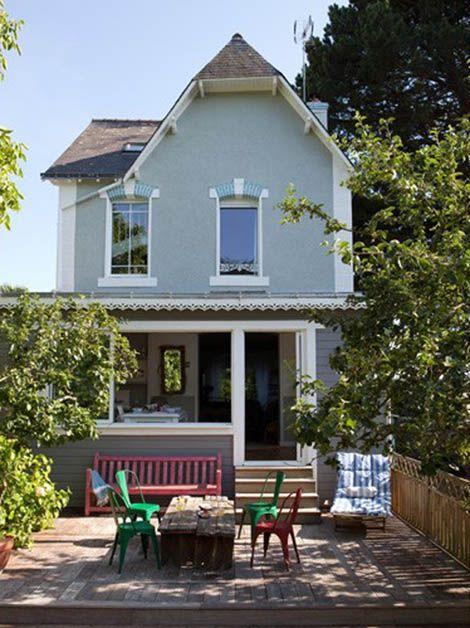 Casa de vacaciones shabby chic exterior porche con - Casas con porche ...