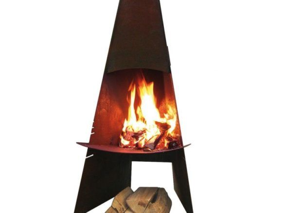 aduro danish cortensteel outdoor wood burning fireplace firepits rh pinterest com