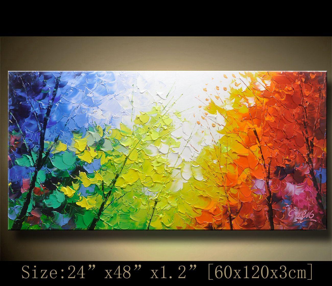 Original pintura abstracta pintura moderna textura por for Pintura acrilica moderna