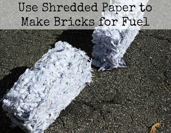 use shredded paper to make bricks for fuel perfect for reusing scrap paper for winter fire. Black Bedroom Furniture Sets. Home Design Ideas