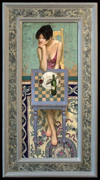 Kenne Gregoire Paintings Natafelen 65x27cm Acrylic On Panel