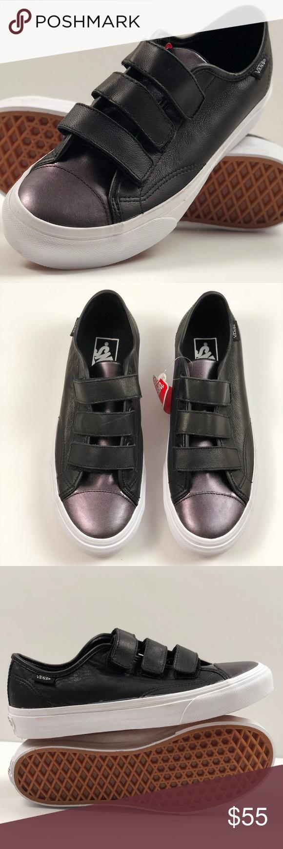 Vans 2 Tone Leather Style 23 V Gunmetal Black. Vans 2 Tone Leather Style 23  V Gunmetal Black. Condition  New with box. Size  Women s 8 f1fb927e6