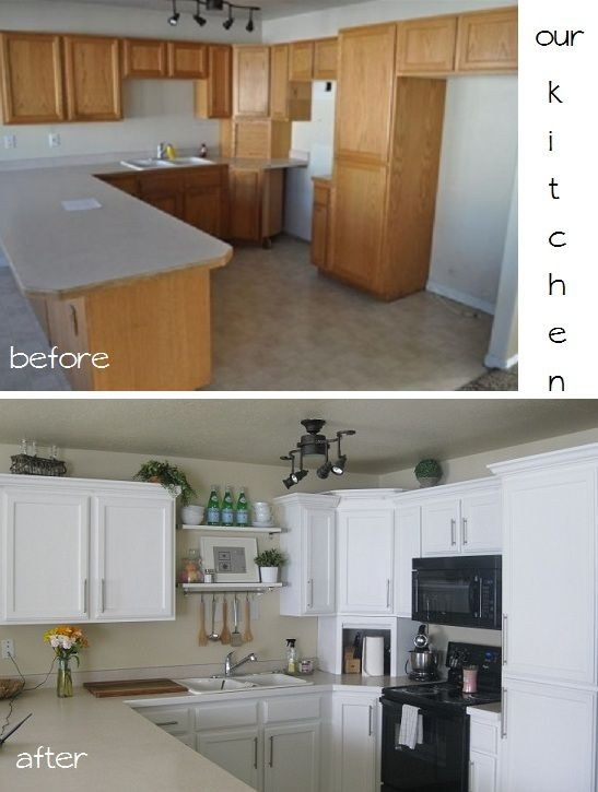 Golden Sugar Studio: Cheap Kitchen Makeover. | what to do with 80\'s ...