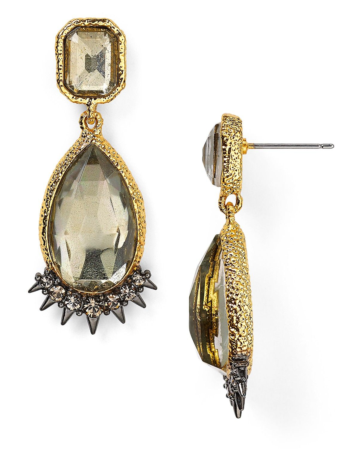 Alexis Bittar Crystal Studded Spur Trimmed Pyrite Doublet Earrings | Bloomingdale's