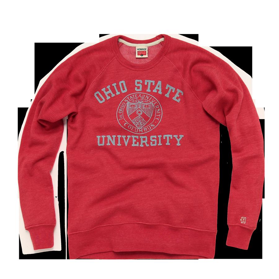 Homage Ohio State Crest Crewneck Sweatshirt 58 00 Ohio State Crew Neck Sweatshirt Retro Sweatshirts [ 900 x 900 Pixel ]