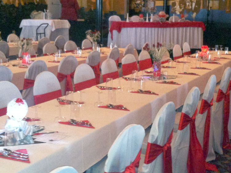 Red White And Silver Wedding Decor
