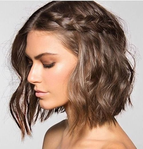 10 5 Minute Hairstyles For Short Hair Medium Hair Short Hair Styles Braids For Short Hair Hair Lengths