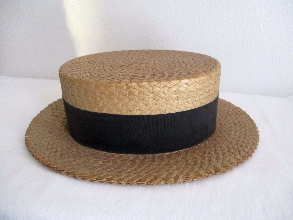 02f01c9c Vintage STRAW BOATER HAT The Roswelle Hat Middleton 7 3/8 1920's Ribbon Mens  #Roswelle #Straw #SpecialOccasion