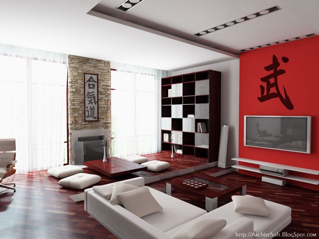 Decoration Asian Style Living Room Interior Design
