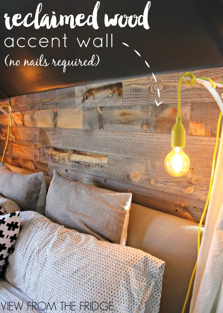Master Bedroom Reclaimed Wood Accent Wall | Reclaimed wood ...