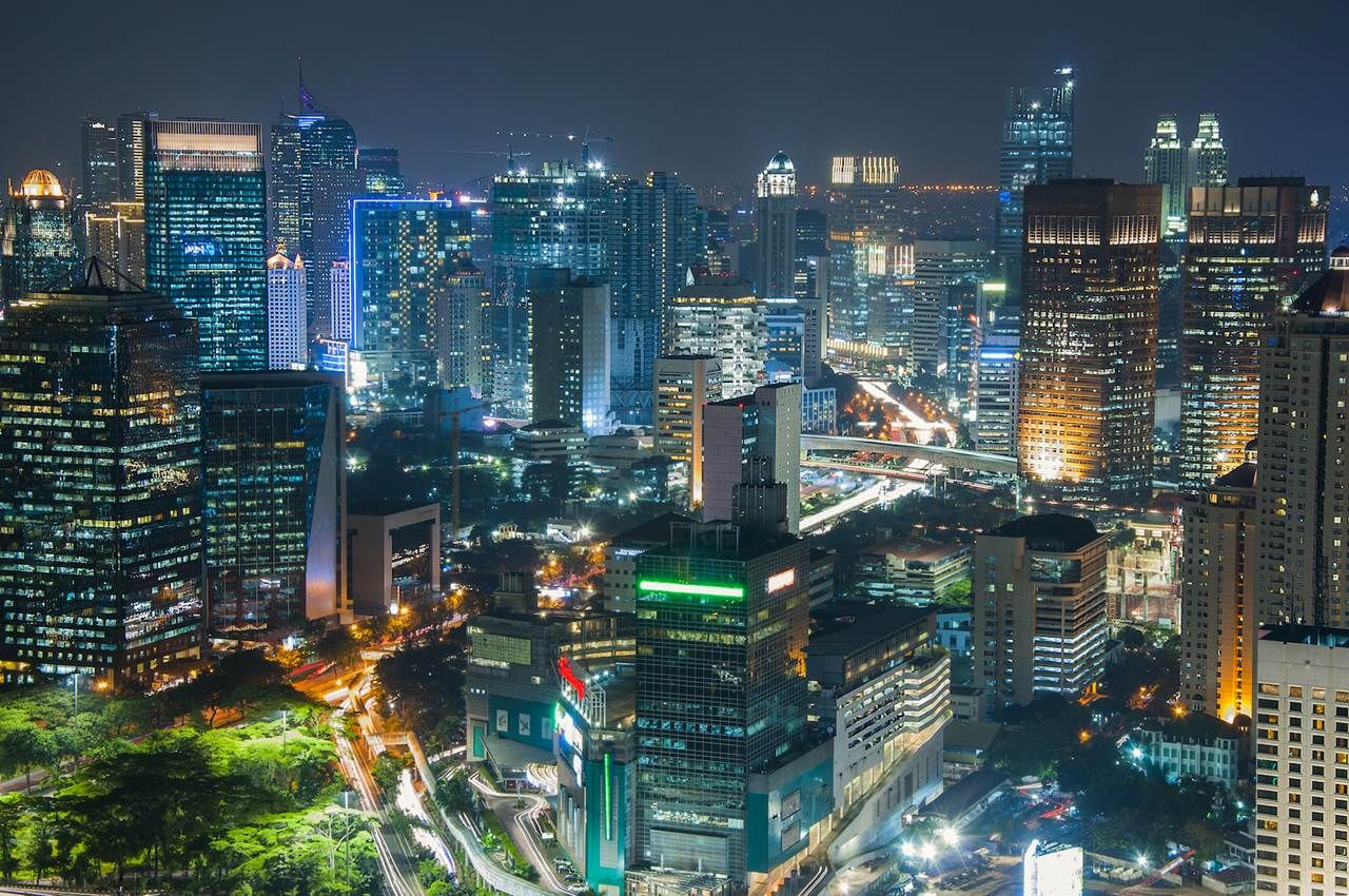 Jakarta city by night, Indonesia Indonesia holidays, Travel