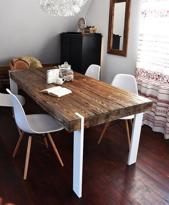 Hand Crafted 6 8 10 Seater Farmhouse Style Reclaimed Wood Dining
