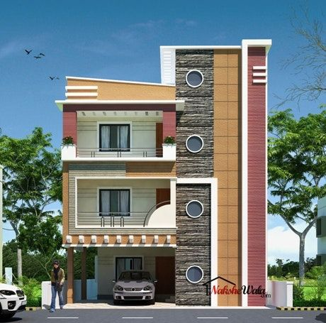 charming front elevation designs for houses in india 39 with house rh pinterest com