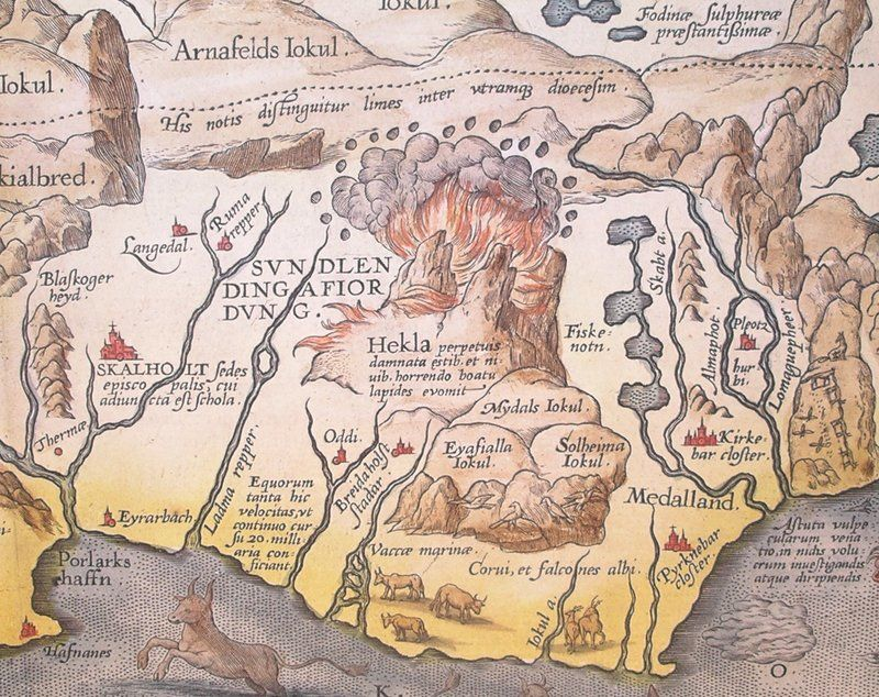 Detail of Abraham Orteliusu0027 1585 map of