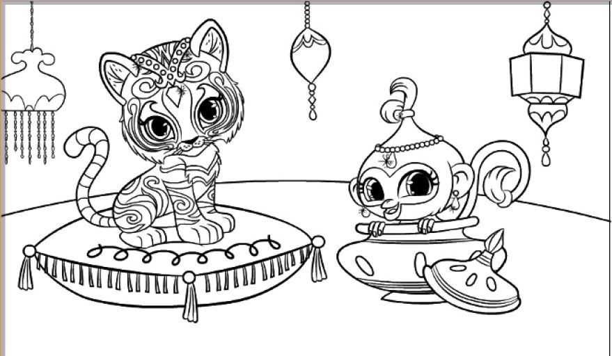 Shimmer And Shine Coloring Pages - GetColoringPages.com | 512x879