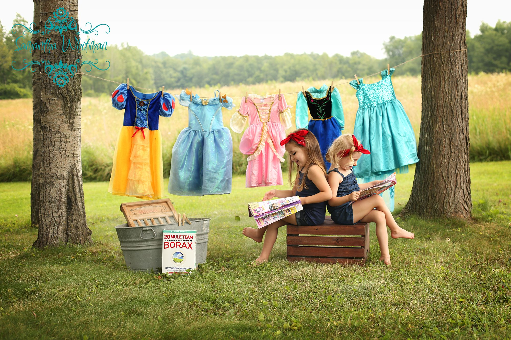princess laundry day photo session