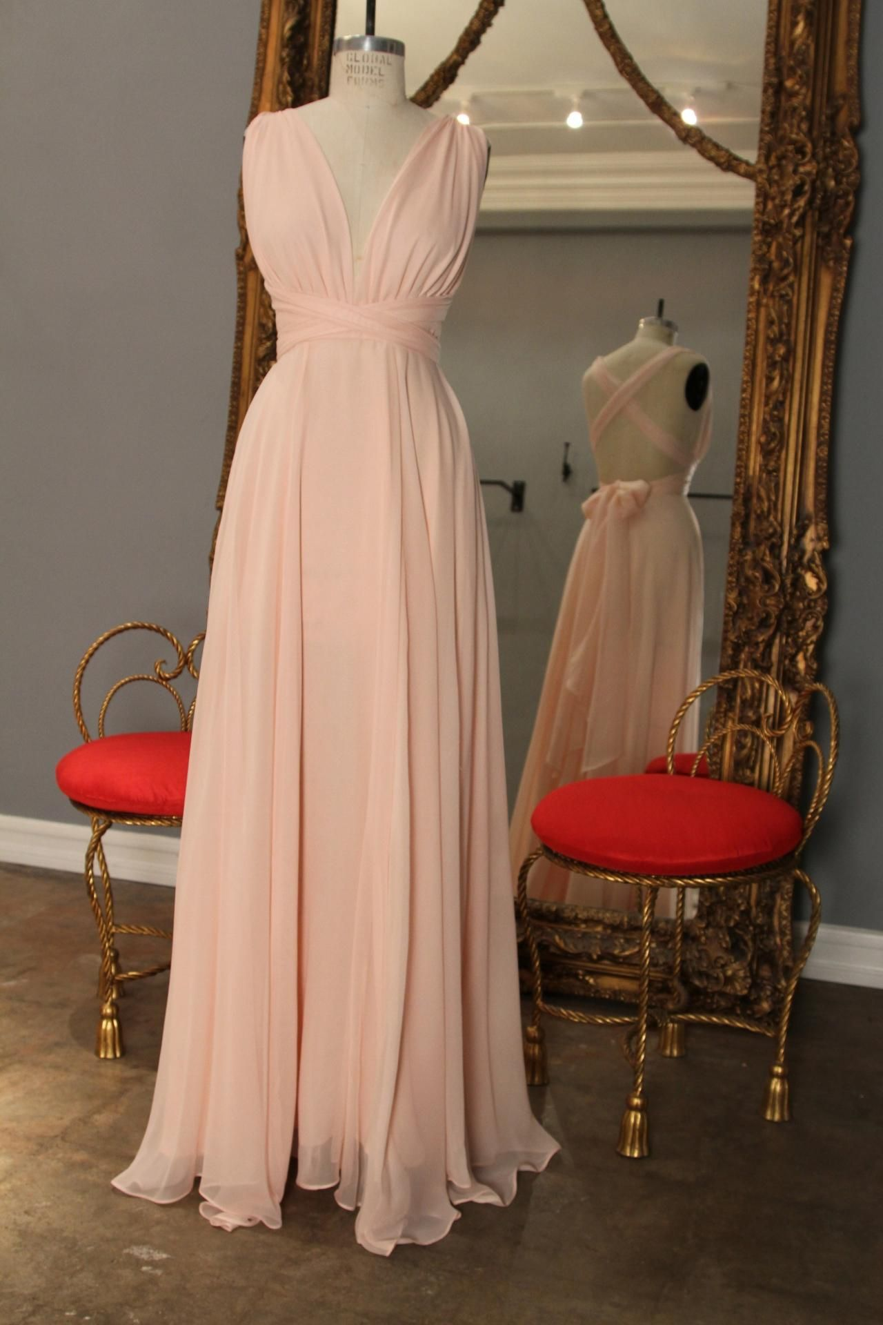 Chiffon prom dresses long chiffon prom dresses deep vneck party