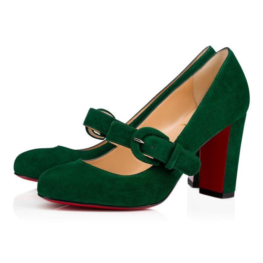 Christian Louboutin Mary Jane Zapatillas verde